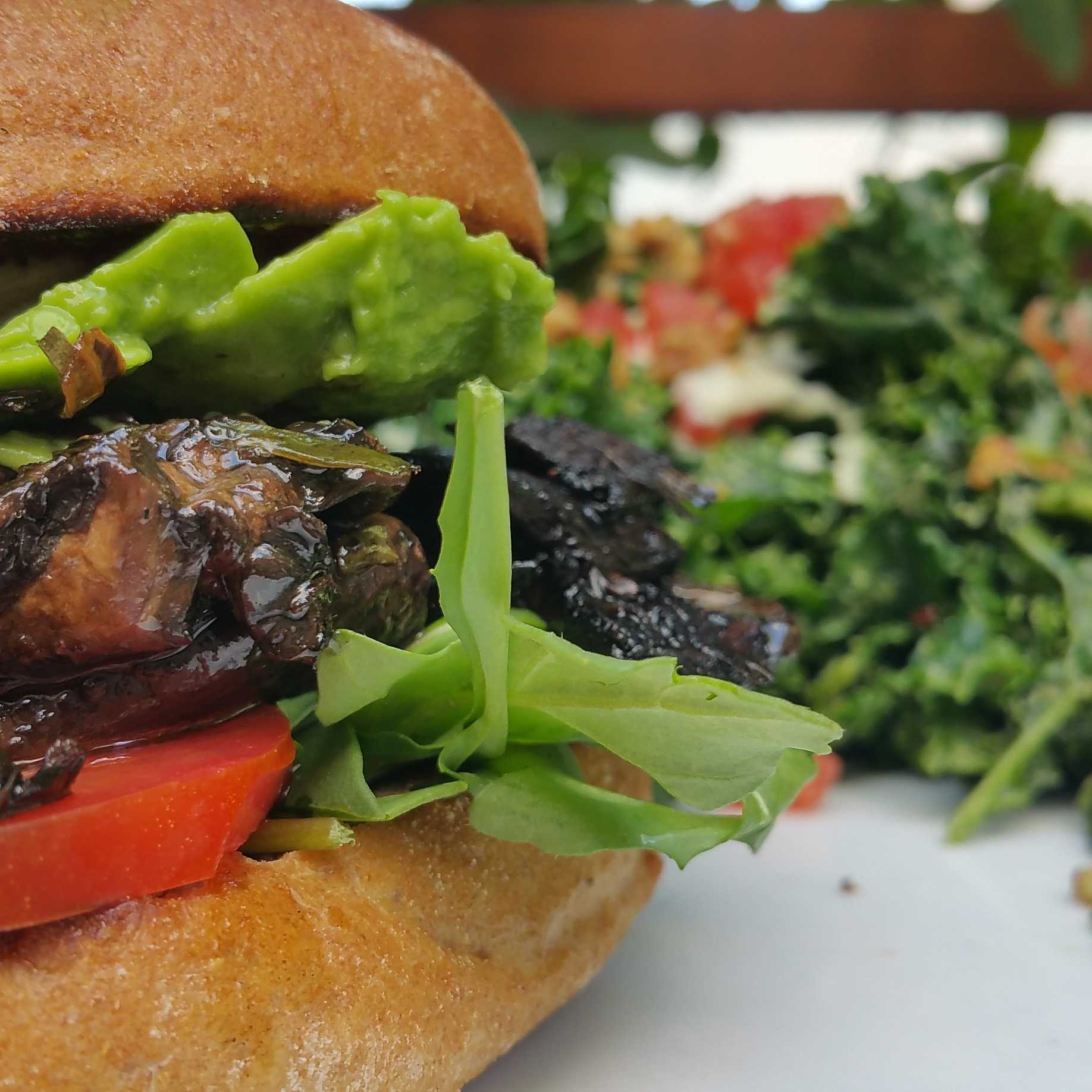 Portobello Sandwich from Sun Cafe photo by Michael Castaneda