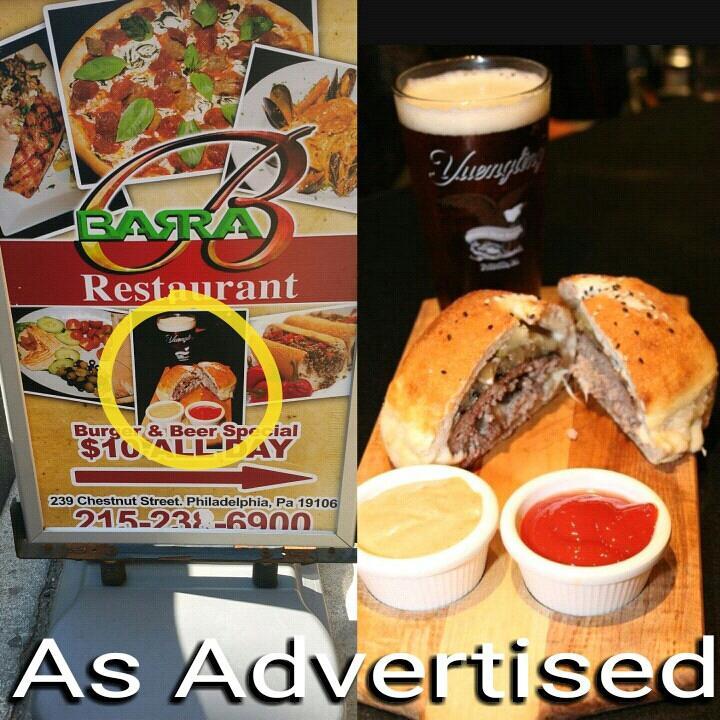 Barra Burger as Advertised Photo Michael Castaneda