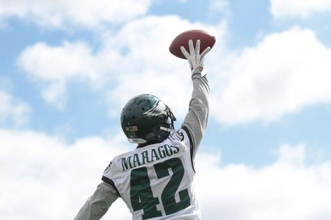 S Maragos Flies High Photo by Katie Tang